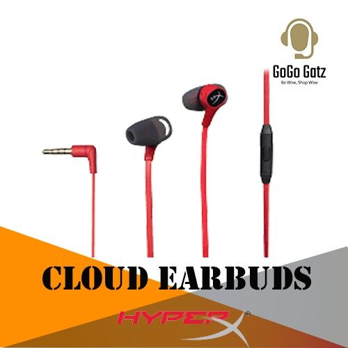 {HX-HSCEB-RD}{Ship Out Within 24 Hours} HyperX Cloud Earbuds Gaming Headphones with Mic for - Mobile/Nintendo Switch