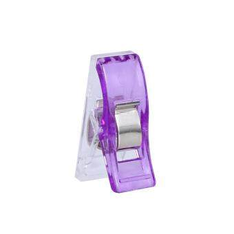 100pcs Purple Mini Sewing Knitting Hemming Clips for Crafts
