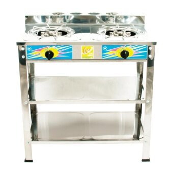 S/S 7 Jet Burner Standing Cooker. Offer 2 Units Only. Ship in 6 Hours ! (Silver)