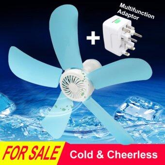 220V Portable Hanging Mini Ceiling Fan Easy Hang For Summer Plastic