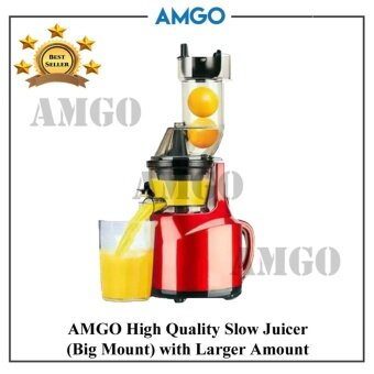 AMGO Slow Juicer 100% Fruit Juice Extraction Big Mouth /Juice Maker / Juicer Blender / Juice Extractor Primada