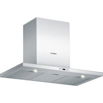 Bosch Series 4 Brushed Steel Wall-mounted Chimney Hood - DEE928PSG