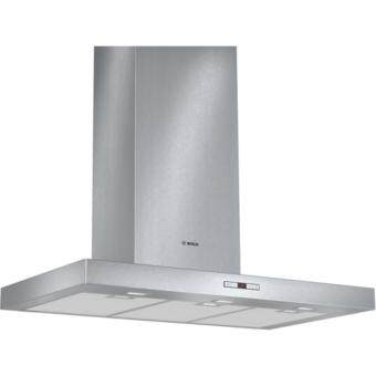 Bosch Series 6 Brushed Steel Wall-mounted Chimney Hood - DWB097E50