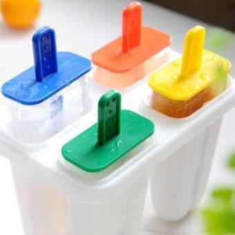 Harga DIY 4 Cell Ice Cream Ice Pop Freezer Maker Popsicle Icy Pole MoldTray