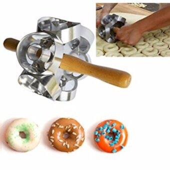 DIY 6 Sides Variable Pattern Roller Donut Cutter Maker Mould Fondant Cake Doughnut Bread Desserts Baking Mould