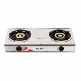Harga Elba 5260SS Stainless Steel Gas Cooker 2 Burner