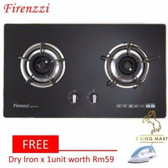 Harga [FREE Gift]Firenzzi FGH-2013 High End Tempered Glass 2 Burner Gas Buit in Hob/Table Top Cooker