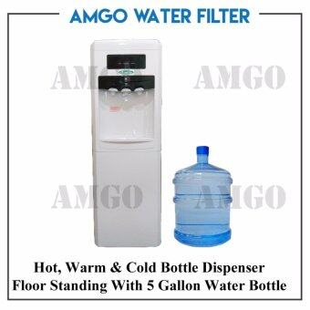 Harga AMGO 11F Hot,Warm And Cold Floor Standing Water Dispenser Bottle Type With 5 Gallon Water Bottle