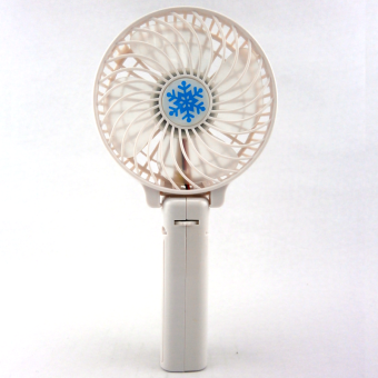 Harga Handy Mini Rechargeable USB Electric Mini Fan Air Cooler (White)