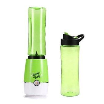 Harga VELLA New 3nd Generation Shake N Take Mini Blender with 2 Bottles (Green)