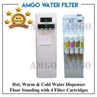 Harga AMGO 11F Hot,Warm And Cold Floor Standing Water Dispenser With 4 Filter Cartridge
