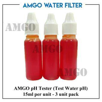 Harga AMGO pH Tester(Test Water pH),15ml per unit - 3 unit pack