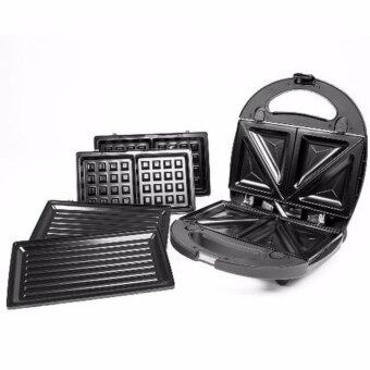Harga MECK 3-IN-1 WAFFLE MAKER, SANDWICH MAKER & BBQ HEATING PLATE MSW-3IN1CS