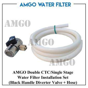 Harga AMGO Double CTC And Single Stage Water Filter Diverter And Hose Set(Installation Set)
