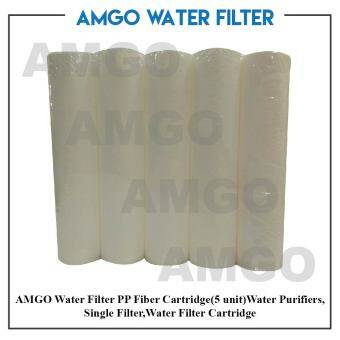 Harga AMGO PP Fiber Cartridge(5 unit)Water Purifiers ,Single Filter,Water Filter Cartridge Replacement Value Package
