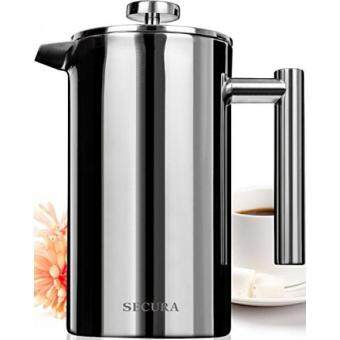 Harga Secura Stainless Steel French Press Coffee Maker 18/10 Bonus Stainless Steel Screen