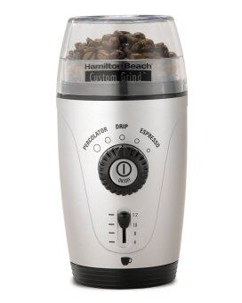 Harga Hamilton Beach 80365 Custom Grind Hands-Free Coffee Grinder, Platinum