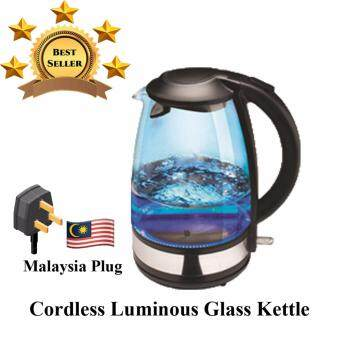 Harga AMGO Electric Jug Kettle 1.7 Litre Glass Body with LED light Dry Boiled[Malaysia 3-Pin Plug]
