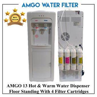 Harga AMGO 13F Hot And Warm Floor Standing Water Dispenser With 4 Stage Filter - Direct Pipe In
