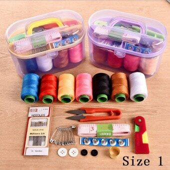 Harga Home Universal Portable Sewing Machine Needle and Thread Package Hand Stitching Sewing Suite ᆪᄄRandom Color)-Size 3