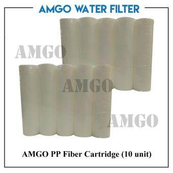 Harga AMGO PP Fiber Cartridge(10 unit )Water Purifiers ,Single Filter,Water Filter Cartridge Replacement Value Package