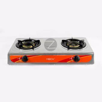 Harga MECK Table-top Gas Stove MGS-1008AY Double Burner 120mm - Stainless Steel