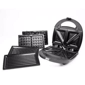 Harga Meck 3-in-1 Waffle Maker, Sandwich Maker & Bbq Heating Plate MSW-3IN1CS Non-Stick Coating