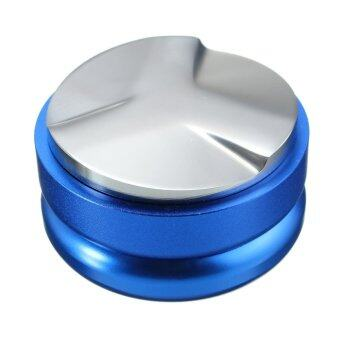 Harga Blue Adjustable Smart Coffee Tamper 58mm 304 stainless Base With Three Angled Slopes