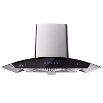 Harga MECK Sensor Touch Designer Chimney Hoods MCH-CH8BLA 1500m3 - Black Stailess Steel