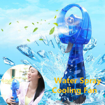 Harga Portable Mini Hand held Water Spray Cooling Fan Mist Sport Beach Camp Travel Blue