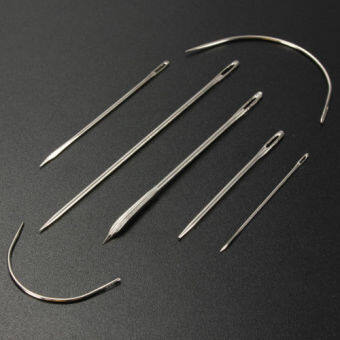 Harga 7x Stainless Hand Upholstery Sewing Needles Carpet Leather Curved Canvas Needle