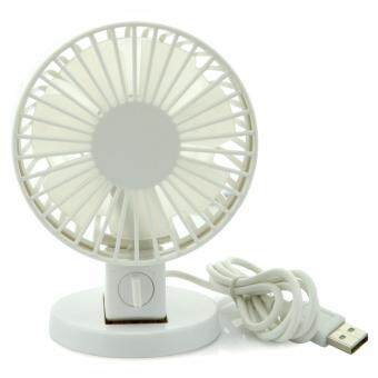 Harga AFAITH Rechargeable Noiseless USB Desk Fan Quiet Powerful Airflow Personal Mini Cooling Fan, Small Table Fan with Pedestal, Adjustable Head Angel, 2 Level Speed, Built-in 800mAh Battery, On-the-Go and Portable for Desktop Tabletop Office Room Travel