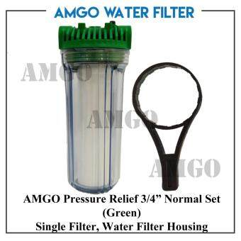 Harga AMGO Pressure Relief 3/4 inches Normal Set (Green) Single Filter,Water Filter Housing