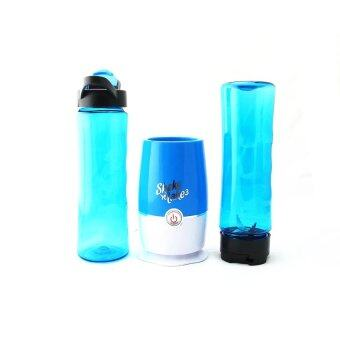 Harga NEW Shake N Take 3 Juice & Fruit Blender with 2 Bottles Juicer Blender High Quality (Blue)