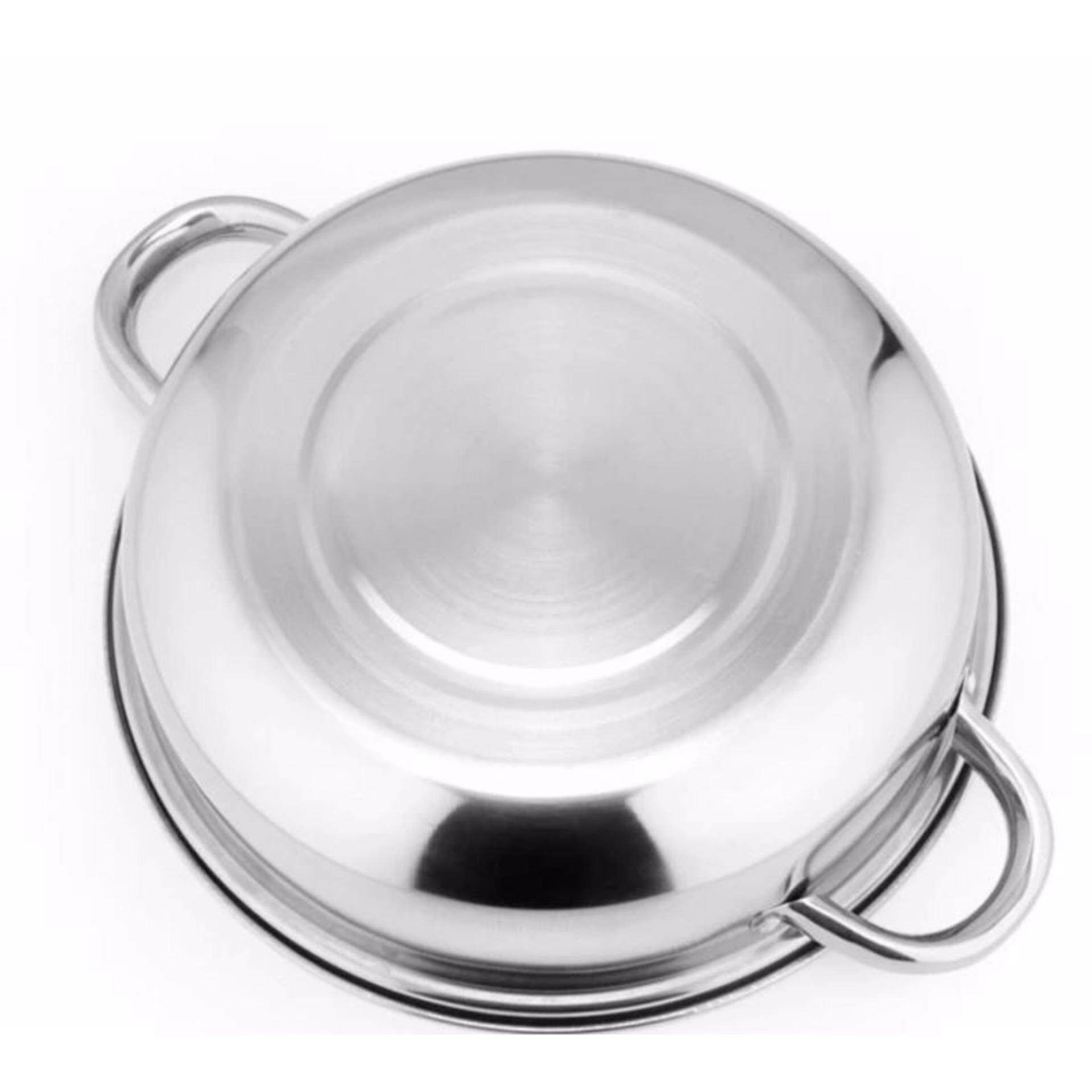 Luxury Soup Steam Pot 28-cm High Quality Stainless Steel Pot - Good Quality Soup Steam Boil Pot 28-cm High Quality Stainless Steel Pot Steamboat Healthy Cooking 2 layers thick stainless steel