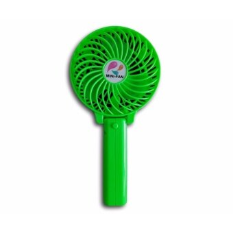 Mini USB Rechargeable Strong Wind Foldable Hand Fan (Green)