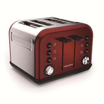 Harga Morphy Richards 242030 Accents Red 4 Slice Toaster