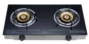 [NEW] Zel 2 ZGC 2120G Table Top Glass Gas Stove With 2 Burners