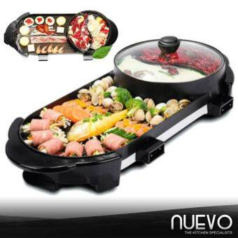 Harga Nuevo Dual-Temperature Control 2 in 1 High Quality MultifunctionBBQ Electronic Pan Grill Teppanyaki & Hot Pot SteamboatCombination
