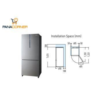 panasonic nrbx418xs econavi inverter 407l 2 door