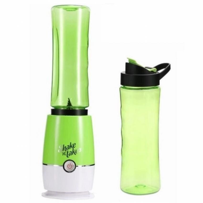 Shake N Take 3 Juice Smoothie Blender with 2 Sport Bottles (Green)