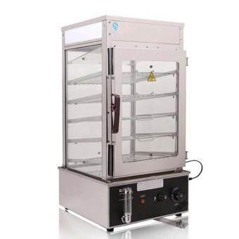 Stainless Steel Electric Food Steamer 1200W Pao Bun Display Food Warmer Showcase 5 layers Steamer