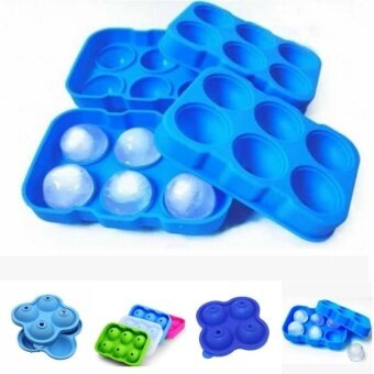 Wonderful Power 15 Color Hot Sale Ice Cube Mold Silicone Ice Cube Mold Maker Tray Whiskey Drink Ice Ball -Transparent SIZE 4 hole