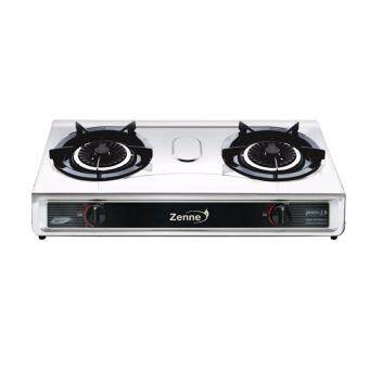 Harga ZENNE DOUBLE BURNER GAS COOKER KGS401A STAINLESS STEEL