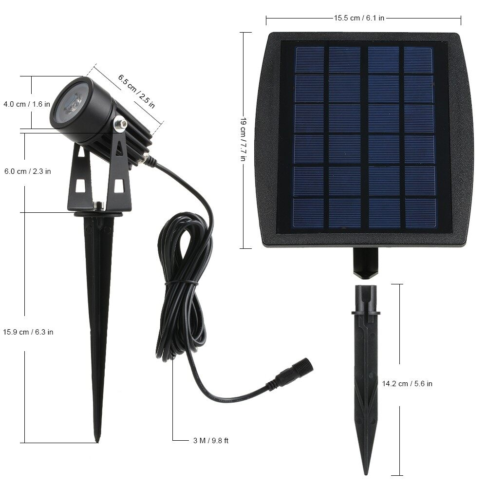 Outdoor Lighting - 2W Dual Solar Powered Water Resistant Outdoor Landscape Lawn Lamp