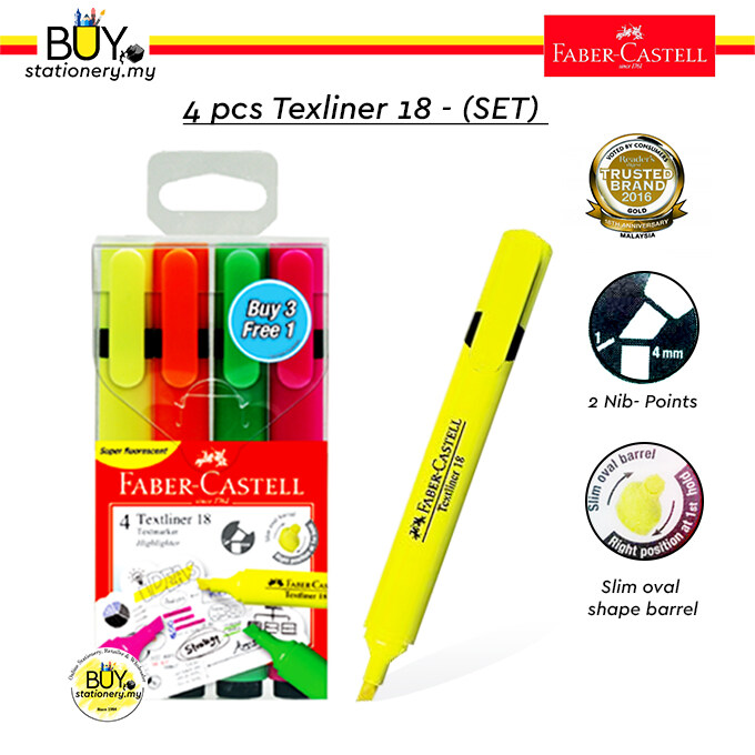 Faber Castell Textliner 18 Highlighter Asst- (Box)