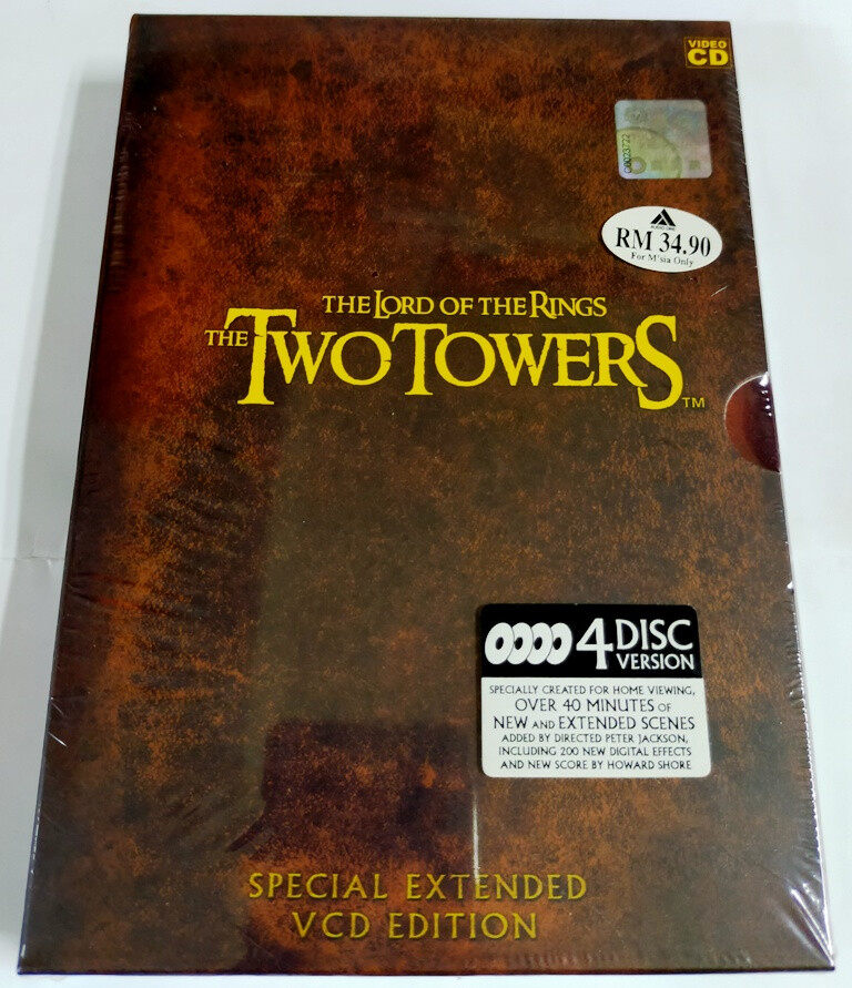 English Movie The L_ord of The Rings : The Two Towers Special Extended VCD Edition 4-Disc Version