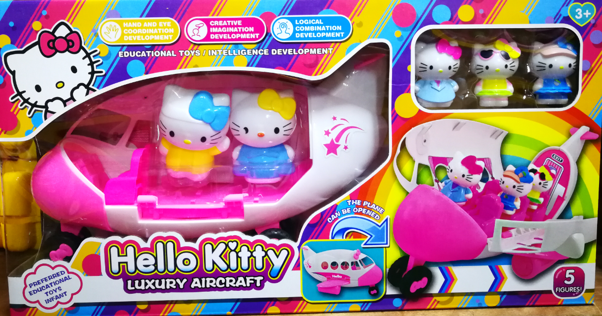 Hello Kitty Luxury Aircraft Toys Set for girls