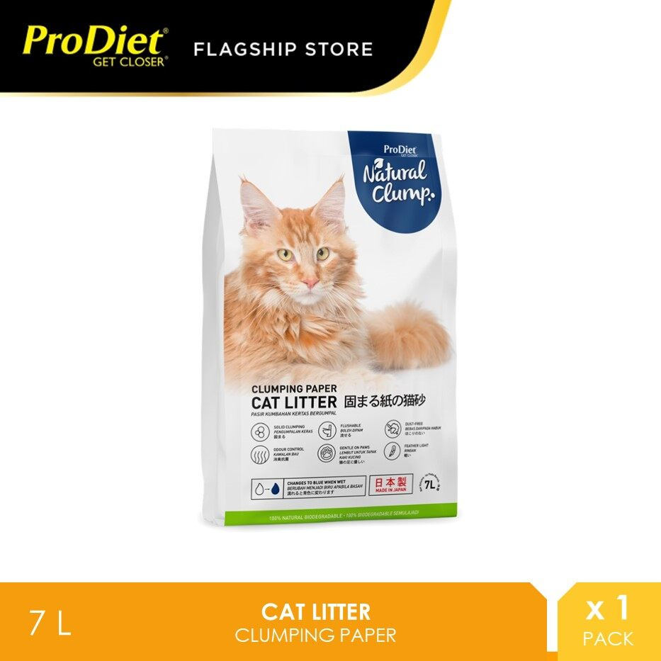 ProDiet Paper Cat Litter Natural Clump 7L [Pasir Kucing]