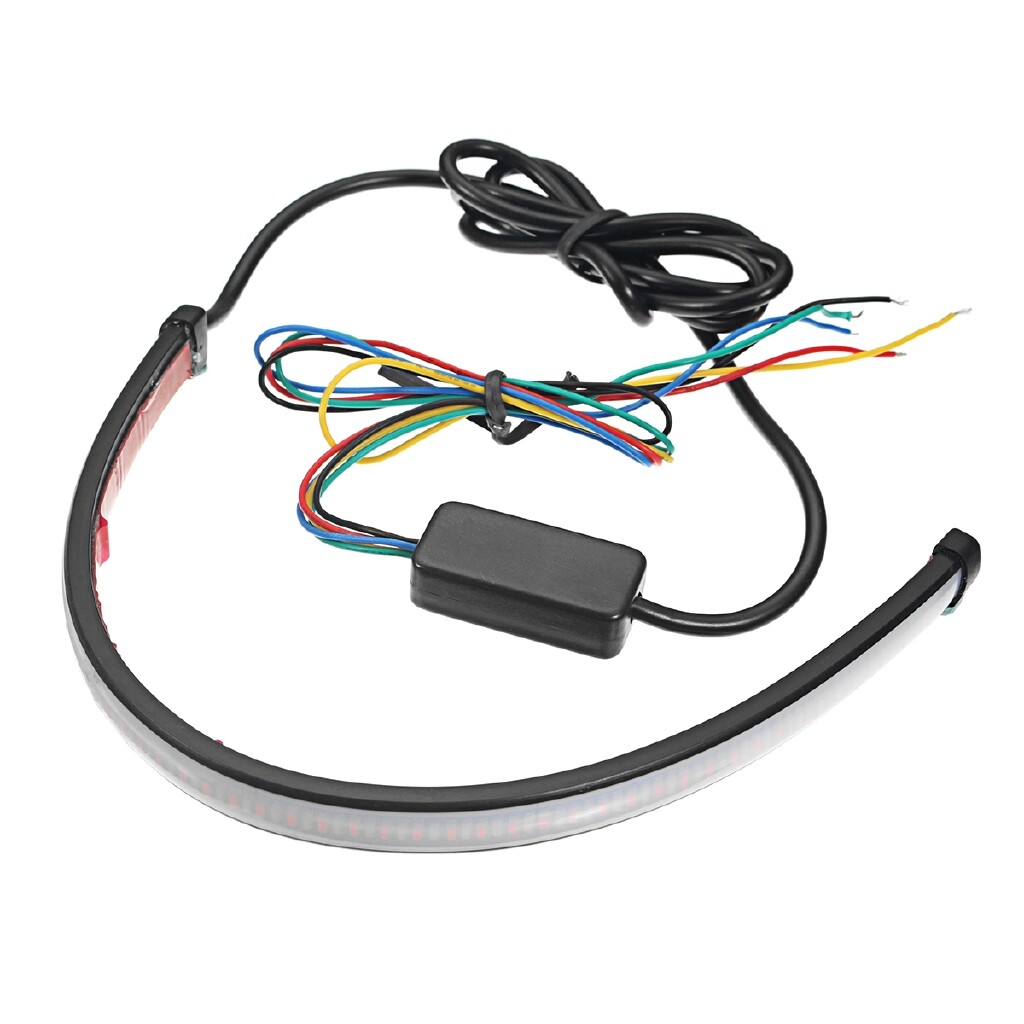 Car Lights - 3w Motorcycle Sequential Switchback Flowing LED Tail Brake Signal Strip - Replacement Parts